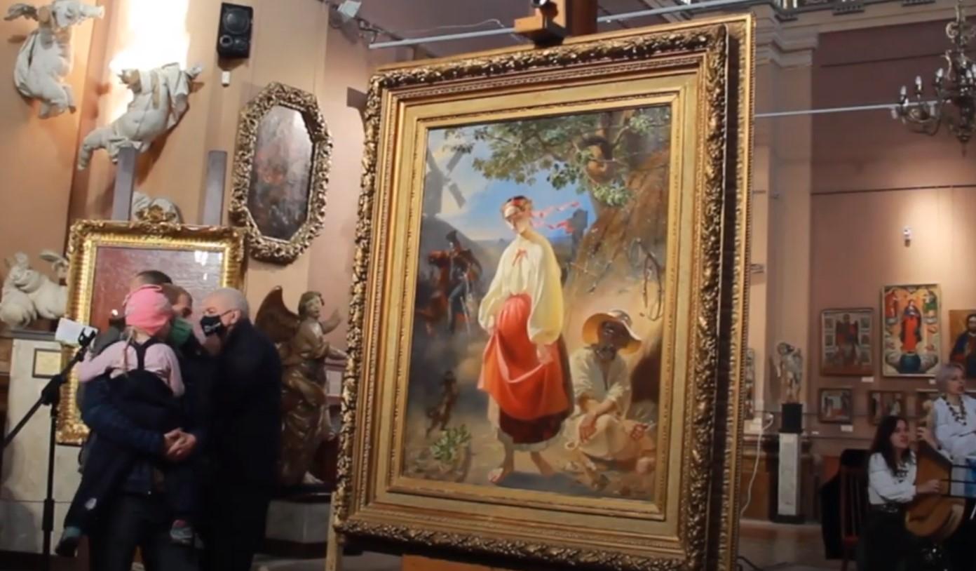 В Івано-Франківську презентували оригінальні картини Тараса Шевченка. Відео